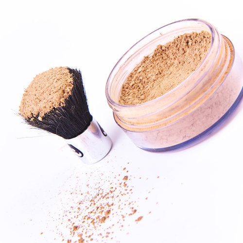foundation and brush