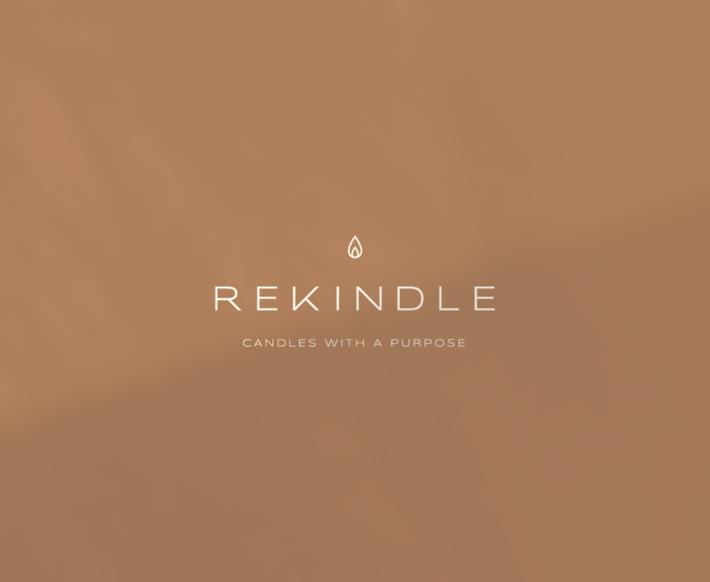 Primary logo design for Rekindle, a purpose based business in Athens and Monroe, Georgia