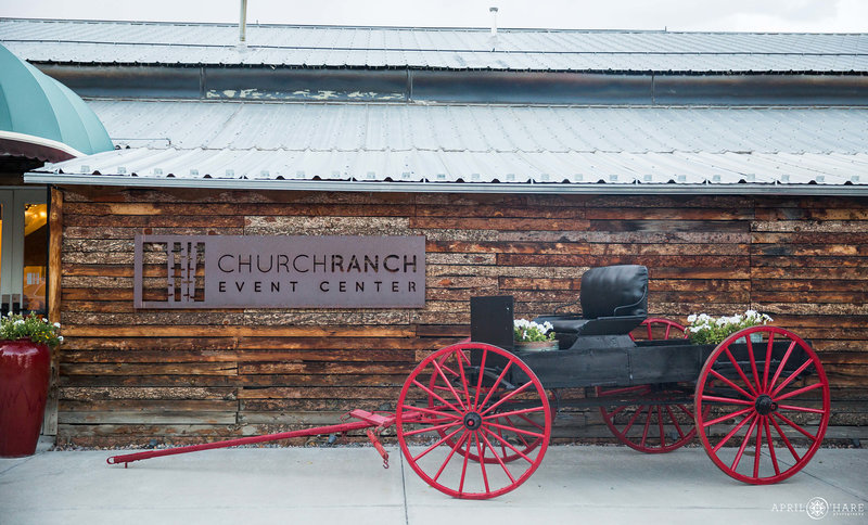 Photo of the exterior of the Great Hall at Church Ranch Event Center in Westminster