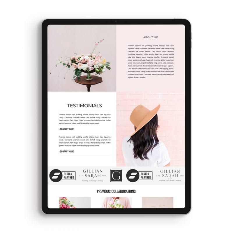 Kylie-media-kit-about-showit-template