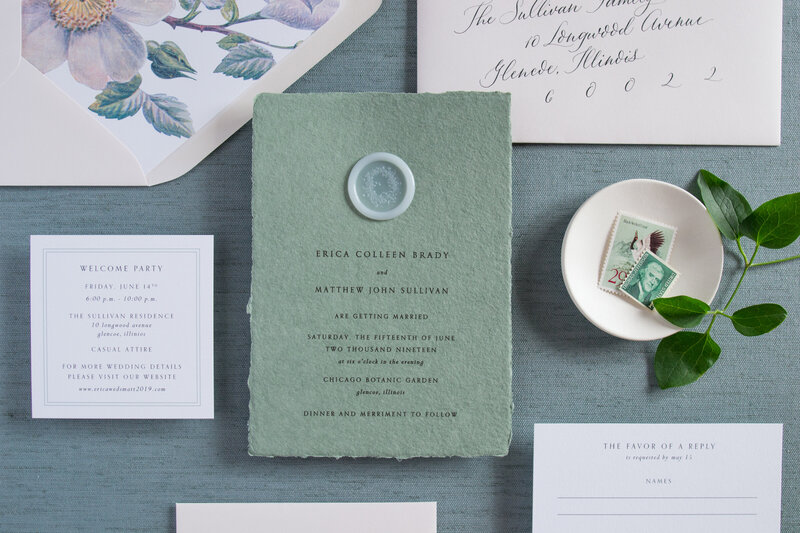 © Kelly McDevitt Design_Erica and Matt  Wedding Invitation