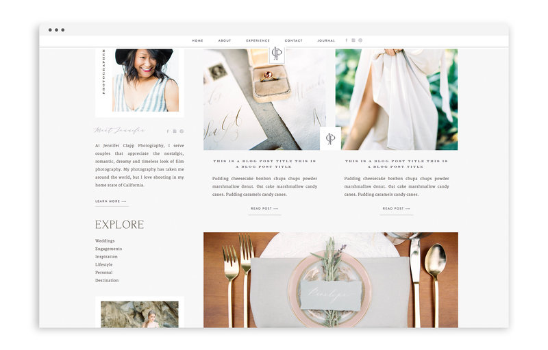 Jennifer Clapp Photography - Brand and Custom Showit Web Design by With Grace and Gold - Photo - 4