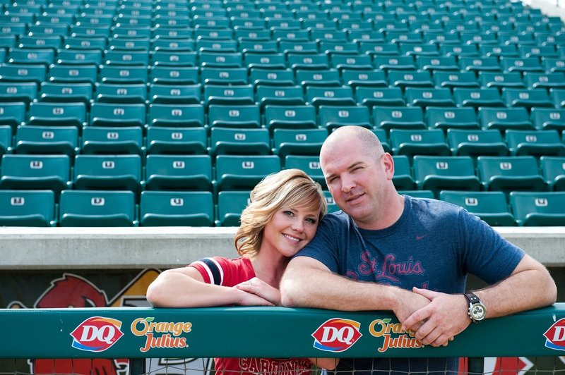 Fargo Red Hawks Engagement session at the stadium by kris kandel (7)