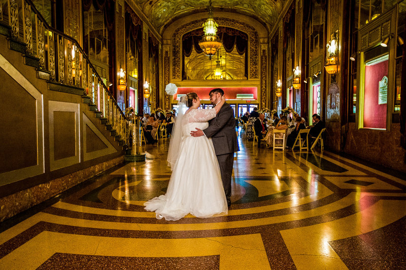 First dance at a Warner Theatre wedding reception