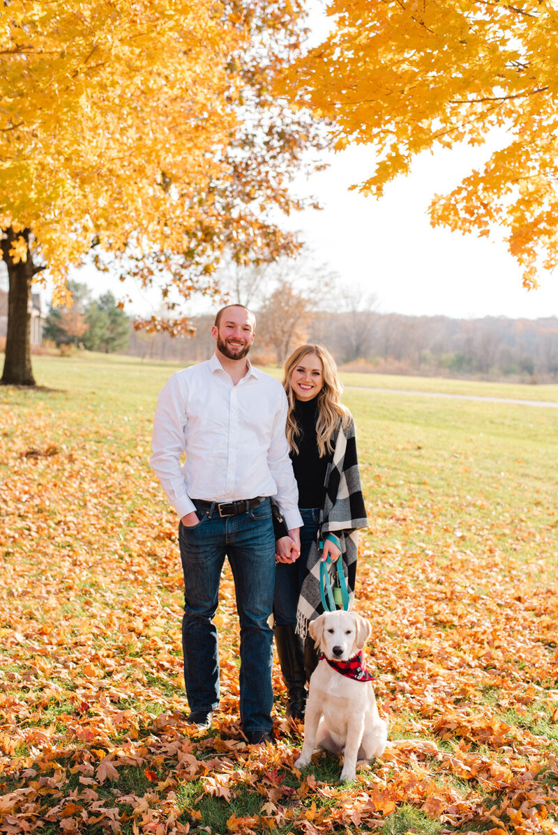 Minnesota-fall-puppy-engagement-photos-7