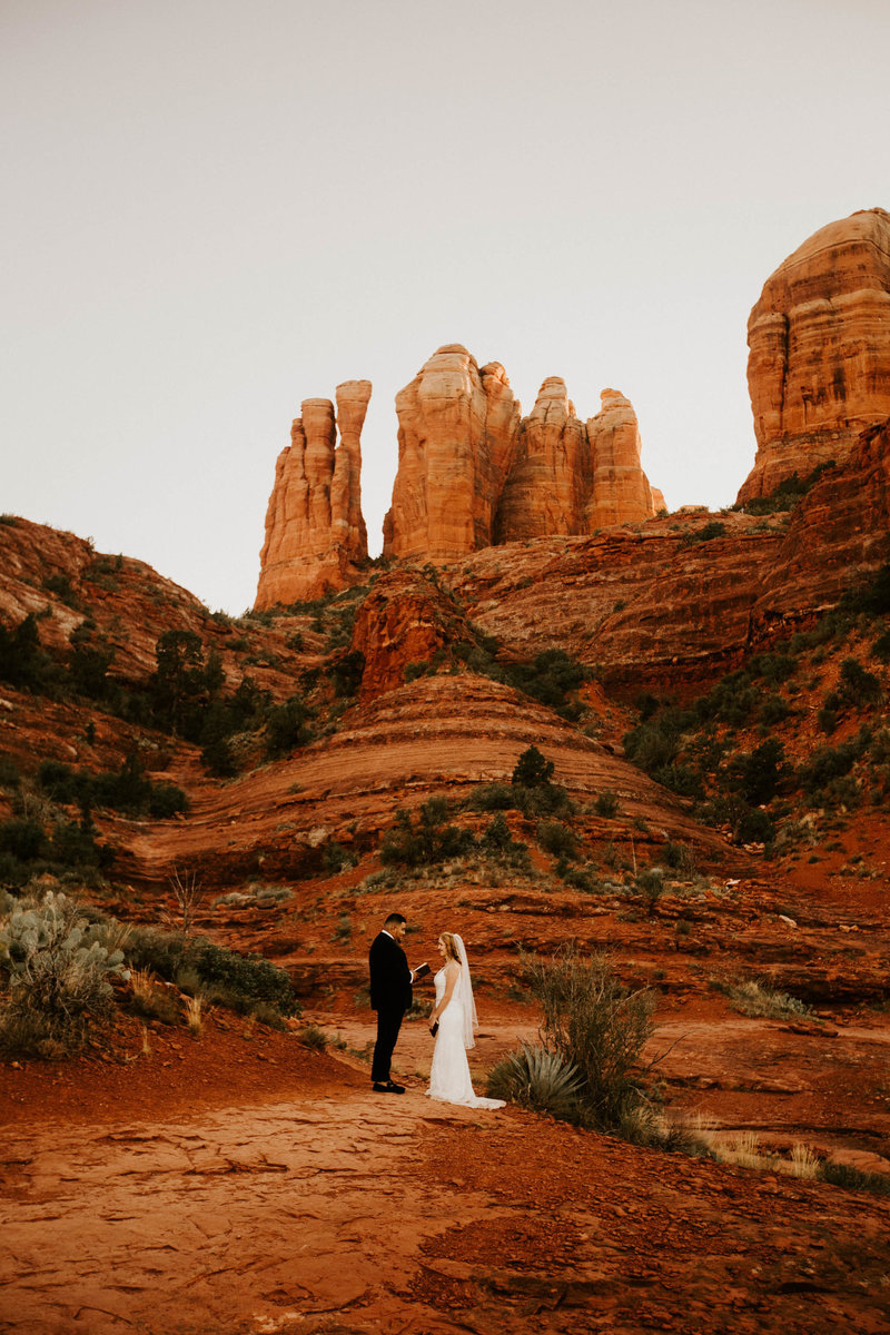 cathedral rock intimate wedding
