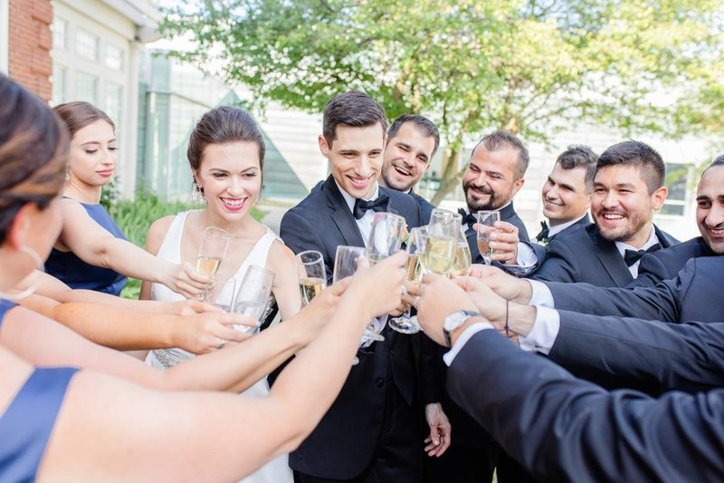 luxury-greek-wedding-saginaw-michigan-champange