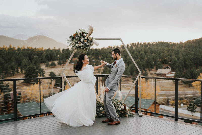 Estes Park Wedding, Hexagon Arch, Autumn Wedding Flowers, Colorado Florist, Jill Houser