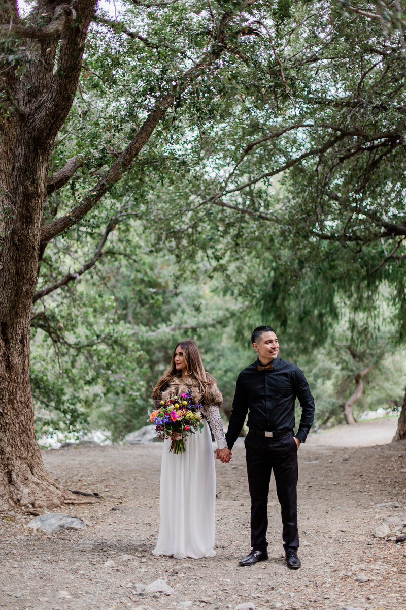 Mt. Baldy Elopement, Wildflower Bouquet, Mt. Baldy Styled Shoot, Mt. Baldy Wedding, Forest Elopement, Forest Wedding, Boho Wedding, Boho Elopement, Mt. Baldy Boho, Forest Boho, Woodland Boho S&W-20