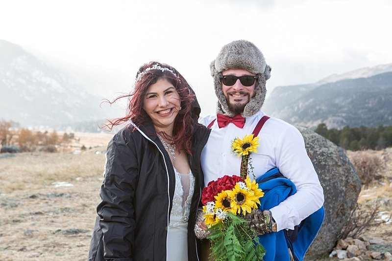 Behind the scenes with this Colorado mountain elopement in Rocky Mountain National Park