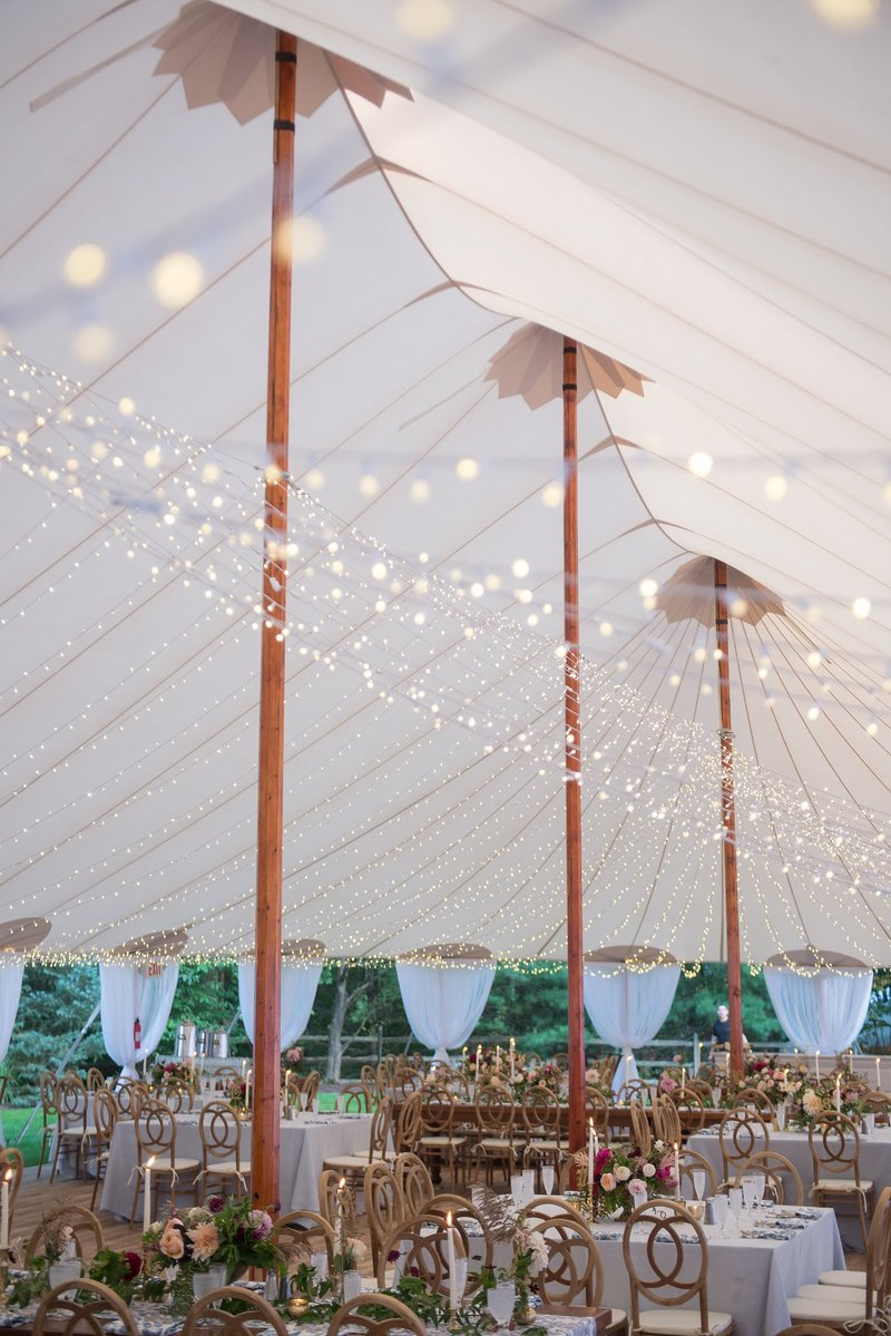 Tented garden inspired home wedding in Hamden, CT