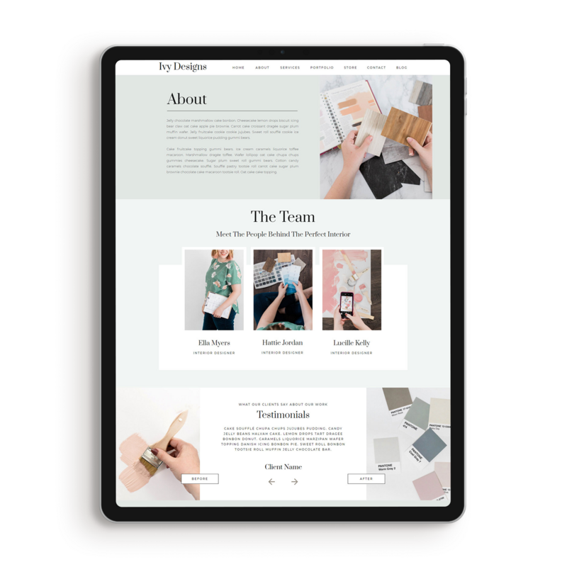 ivy-about-page-template