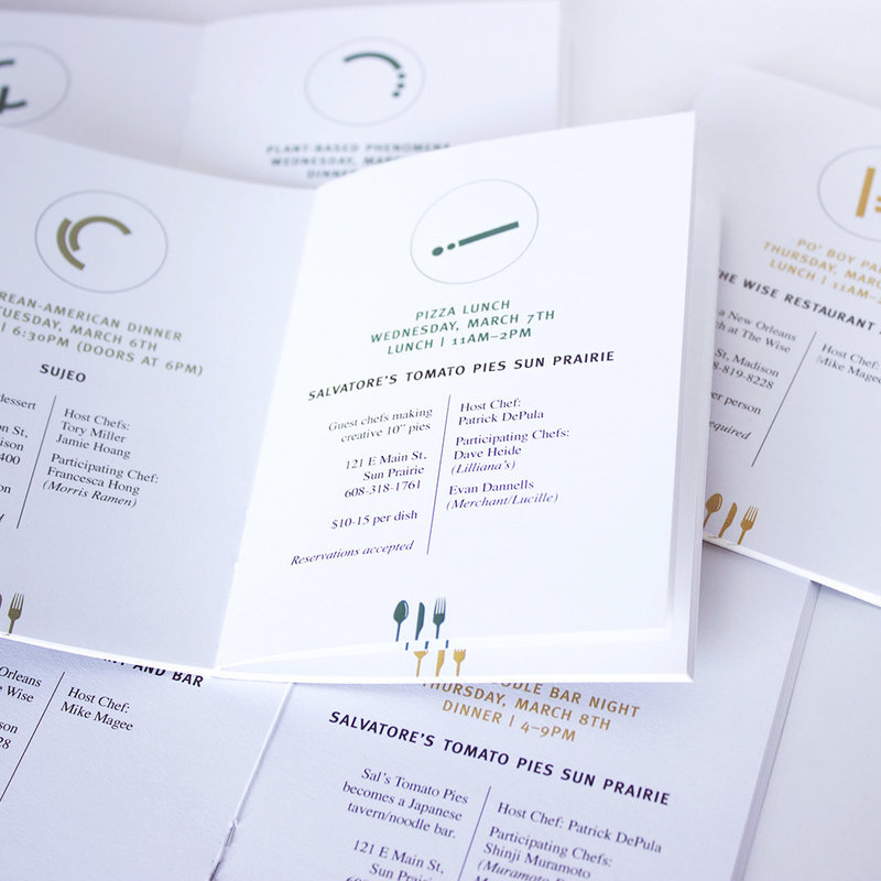 Creating branded informational collateral for your event with Christie Evenson Design Co.