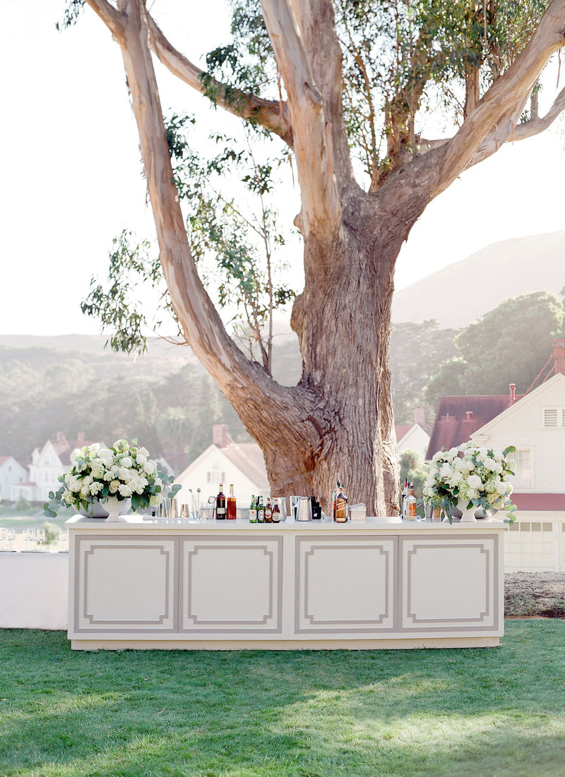 Bar for Cavallo Point wedding by Jenny Schneider Events.
