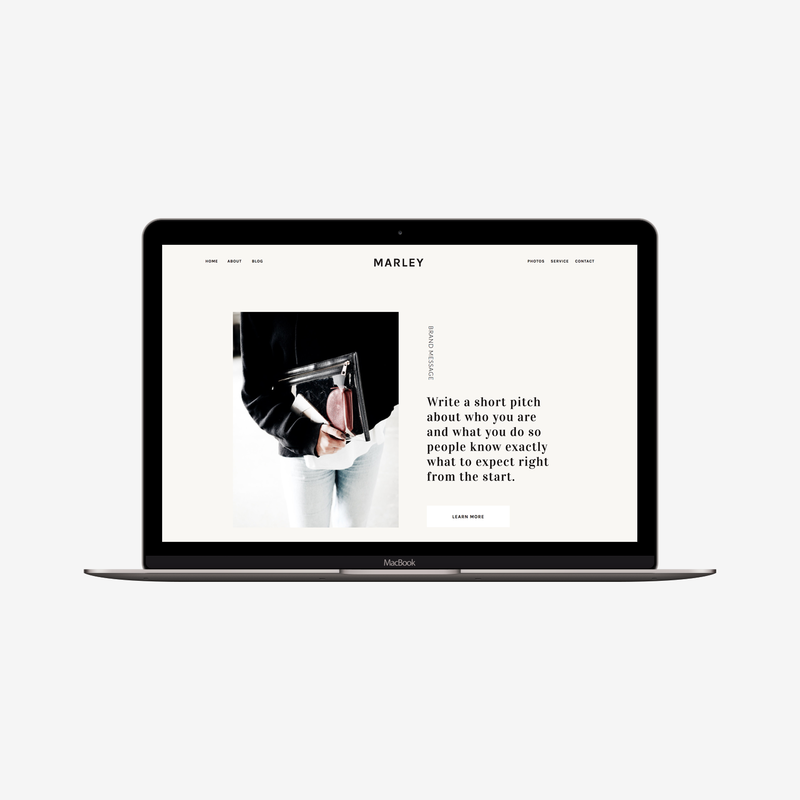 The Roar Showit Web Design Website Template Marley Macbook