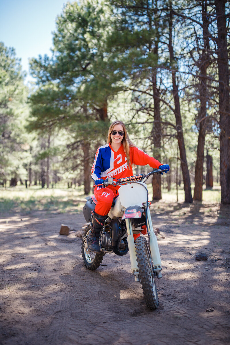 Makayla riding her cr80 dirt bike