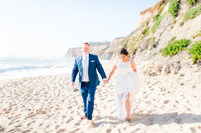 Wedding on the Beach in Half Moon Bay at the Ritz Carlton and Half Moon Bay Golf Links