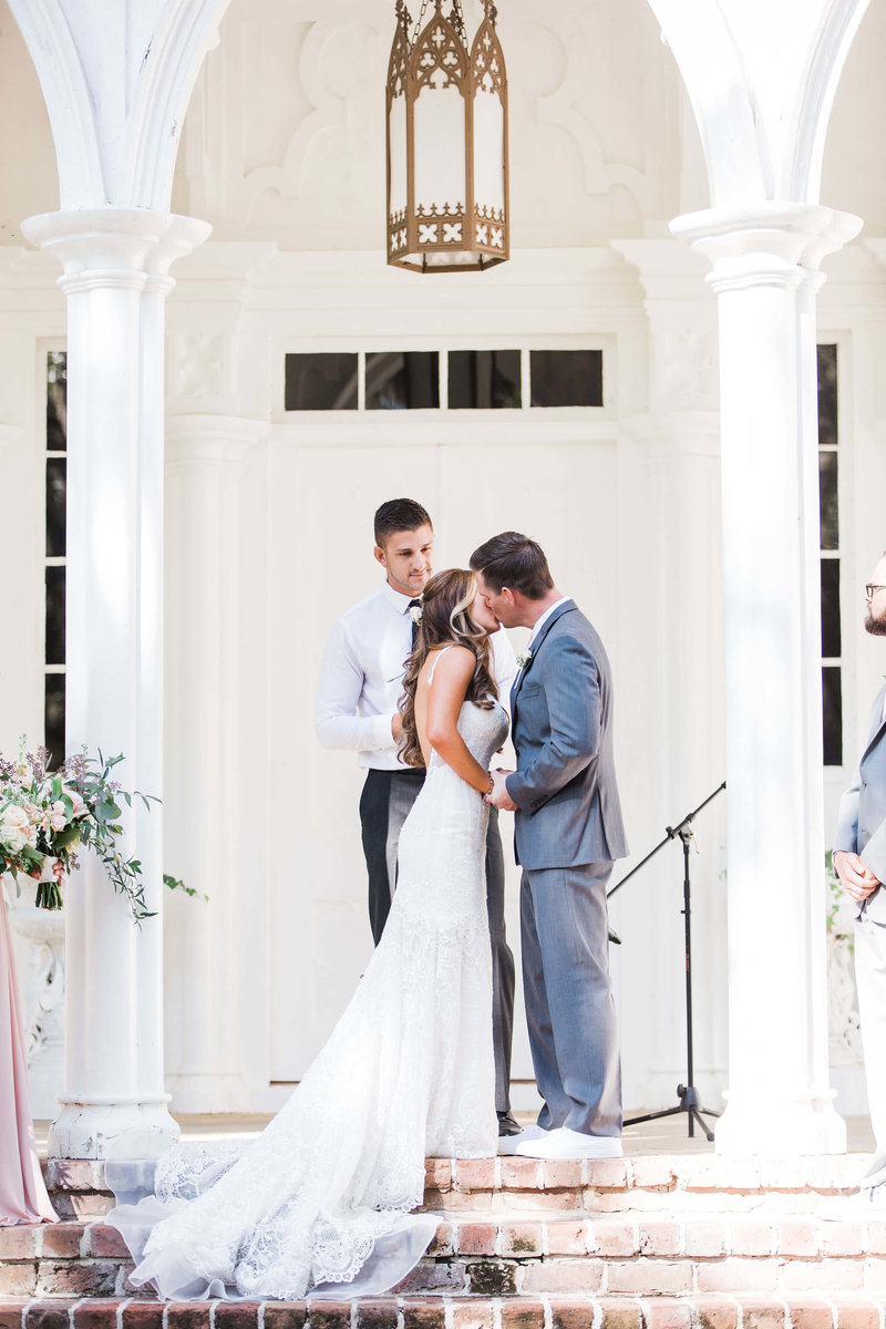 Bride and Groom portraits at Rosehill Mansion in Bluffton