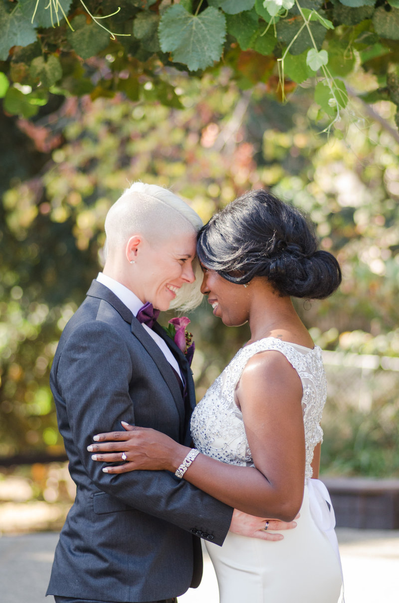 LGBT UC Davis Arboretum Wedding by Adrienne and Dani Photography