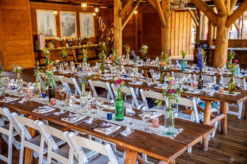 Piney River Ranch Wedding Reception by Glitter & Bliss Events in Vail