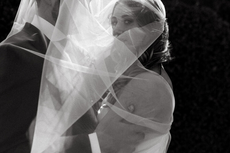 colorado veil bridal portrait