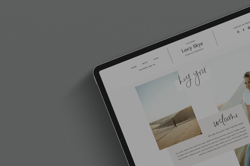 Larissa Website Template for creatives