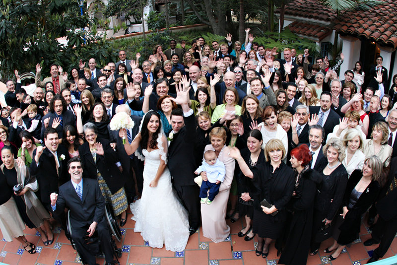 wedding photograph with all your guests