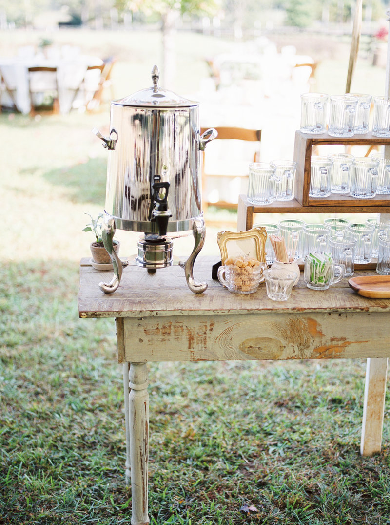 coffee bar alabama wedding