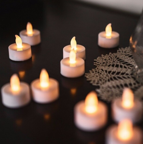 flamesless tea lights