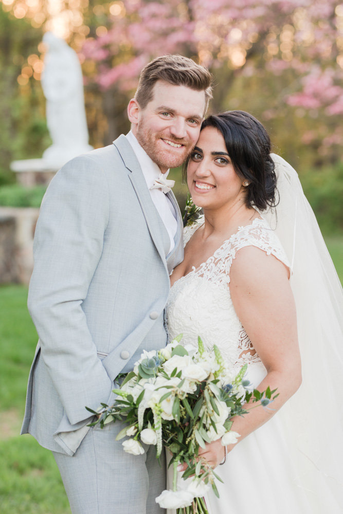 bride and groom  at Stone House at Stirling Ridge Maryland Wedding by  Costola Photography