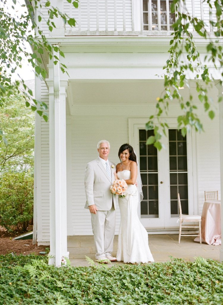 Peach inspired wedding at The Florence Griswold Museum in Old Lyme, CT