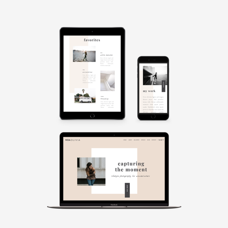 The Roar Showit Web Design Template Noa Olivia Responsive