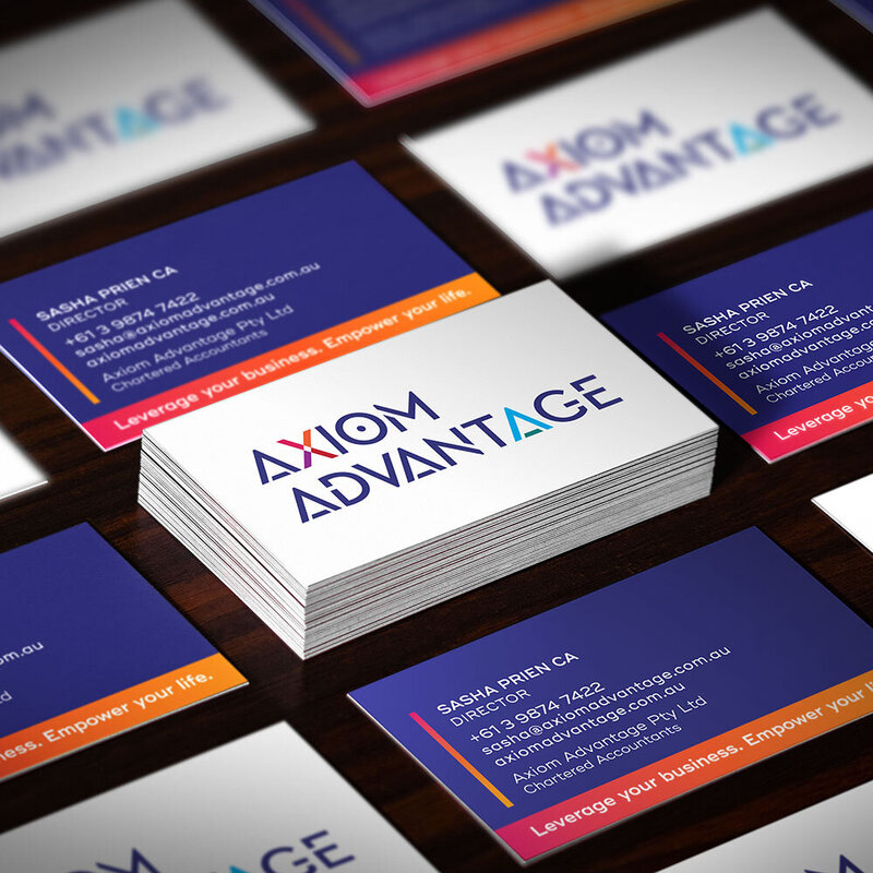 Axiom Advantage Business Cards by The Brand Advisory