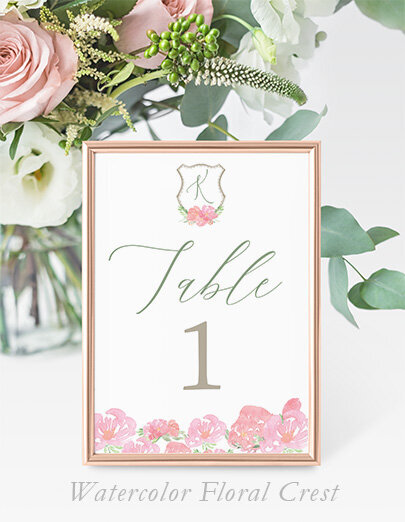 watercolor_floral_crest_Table