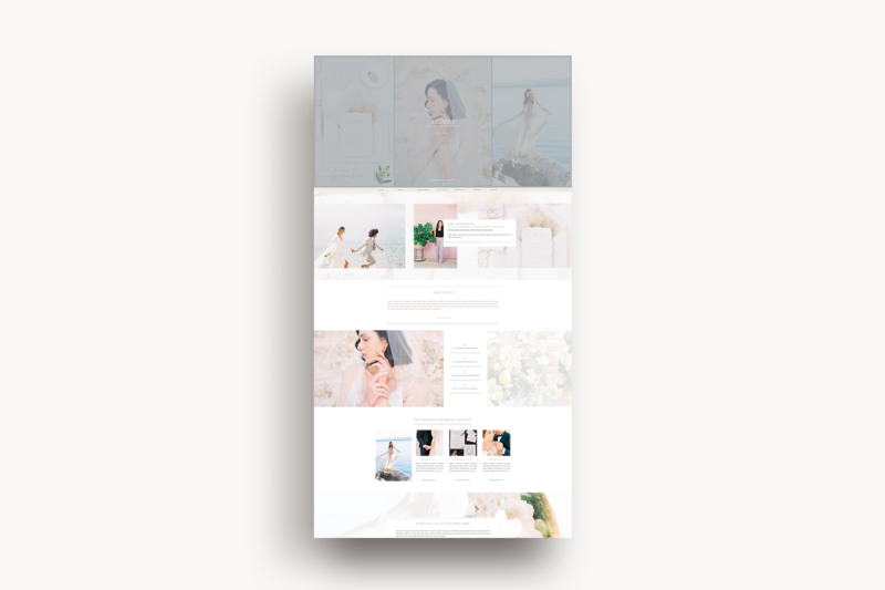Audrey Showit Template Preview