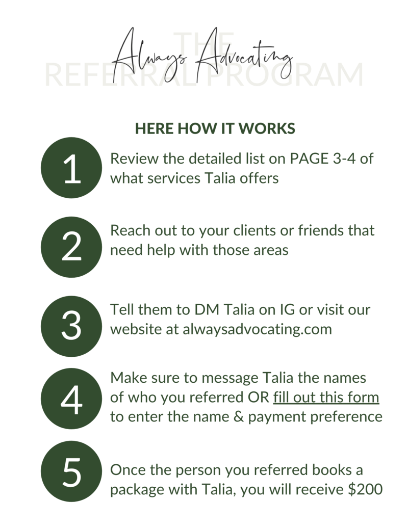 The Always Advocating Referral Program