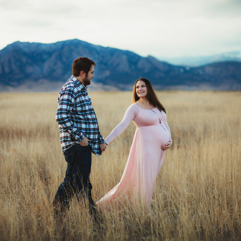 Fall Couples Maternity Portrait Session