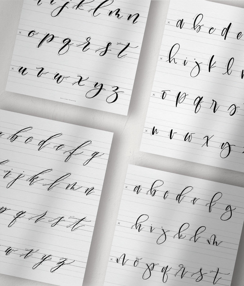 Practice Modern Calligraphy with Practice Guides for Modern Calligraphy Alphabets
