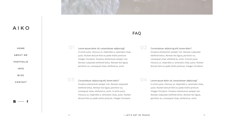 Showit theme for designers and creatives - mininalistic, strong and female 05