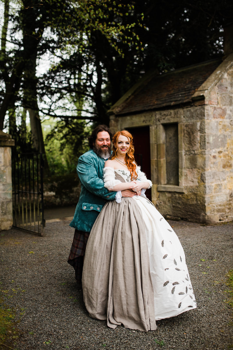Wolf + Charlena-Outlander-Inspired-Wedding-Old-Glencorse-Kirk-Scotland_Gabby Chapin Photography_Print_0367