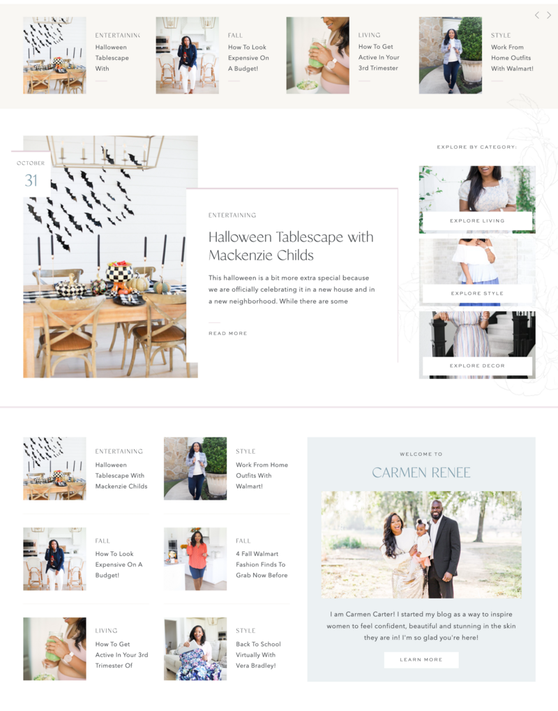 With Grace and Gold - Custom Brand Logo and Showit Website Design Web Design for Creative Entrepreneurs andn Small Business Owners - Carmen Renee Blog - 3