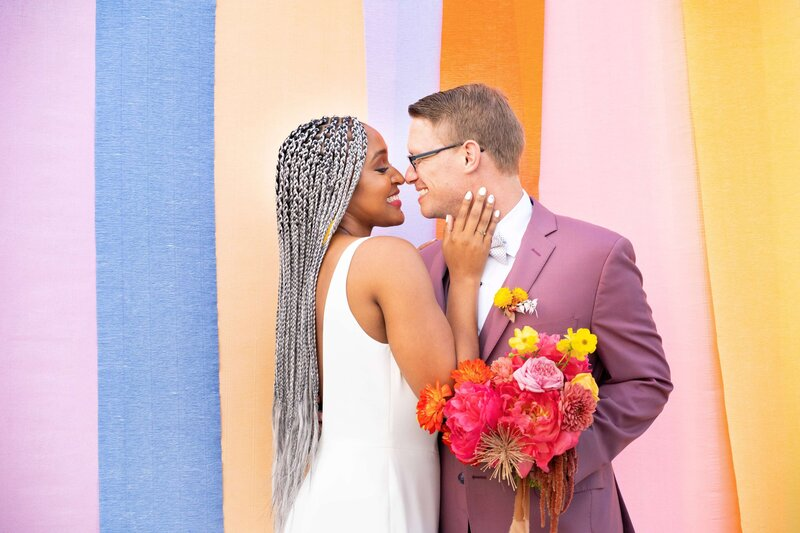 Married couple colorful back drop (1)