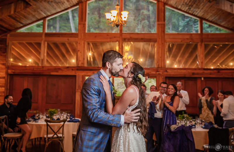 Romantic Barn Wedding Reception in the Colorado Mountains