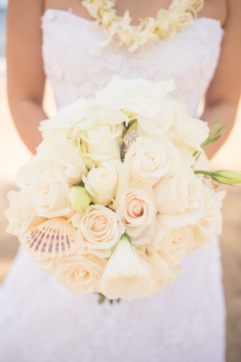 white Sands Maui Wedding Bouquet