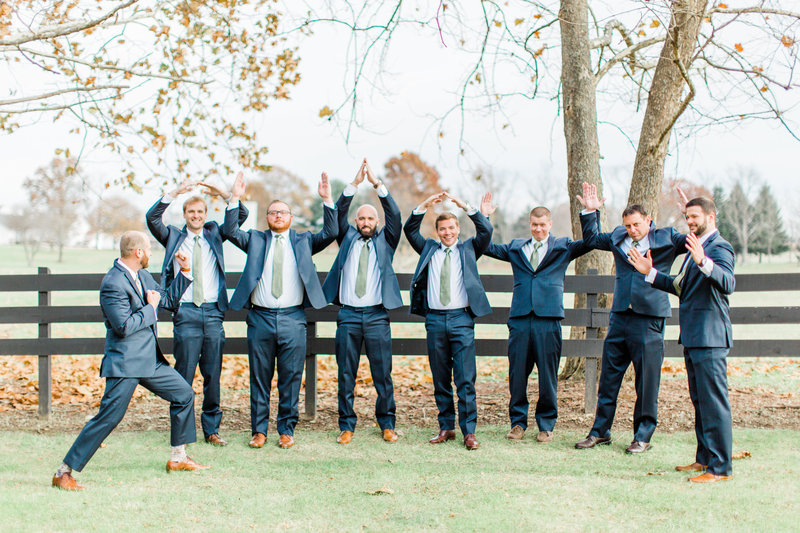 Brookside Louisville Ohio Wedding Groomsmen Beat Michigan