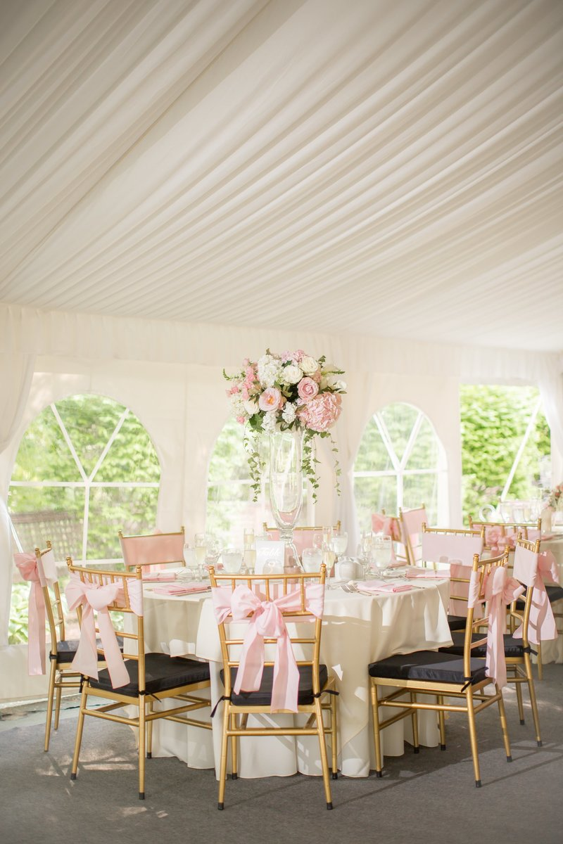 White tented reception photo by NJ Wedding Photographers