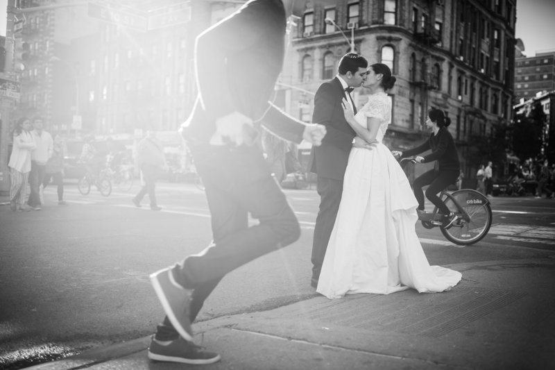 2 Downtown wedding photo in NYC Destination wedding photographer photojournalism