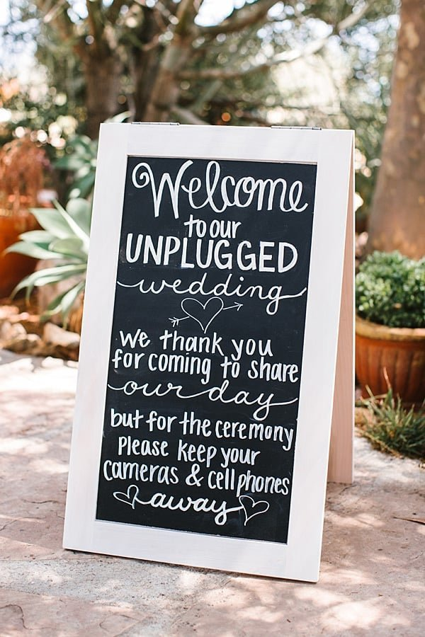 Unplugged-Wedding-Ceremony-Sign-Southern-California-Bride