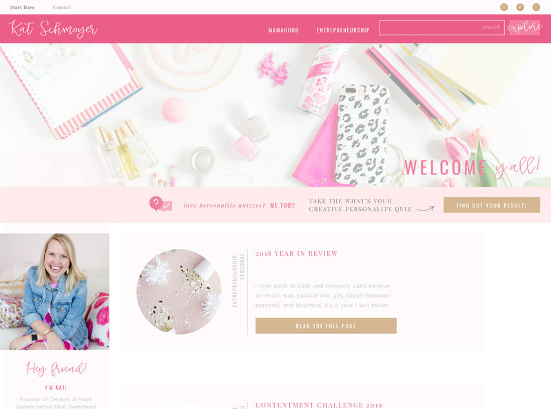 Kat-Schmoyer-Blog---Treat-Yo-Elf-Showit-5-Website-Template