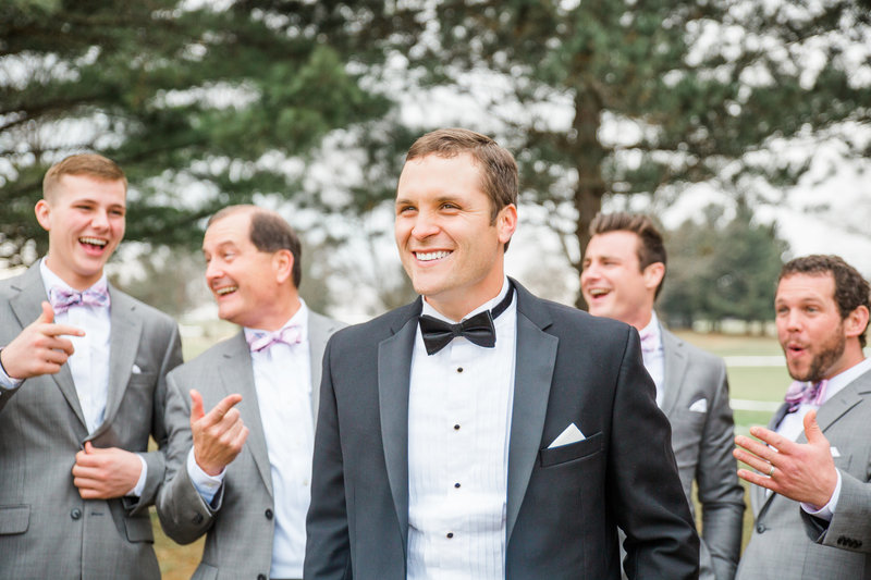 Groomsmen Smiling Salem Ohio